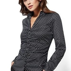 New york and company button down ruched